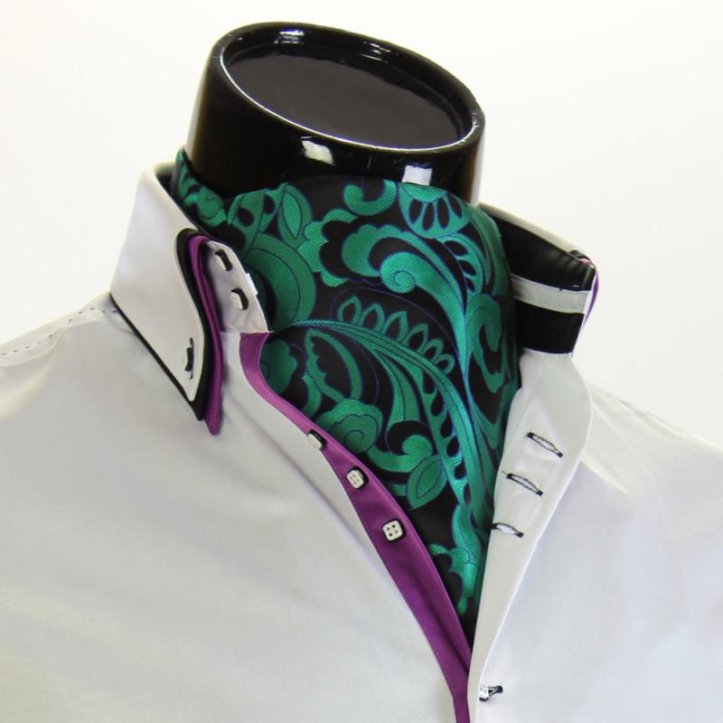 Men`s Vintage Paisley Ascot Cravat CH 9070-1