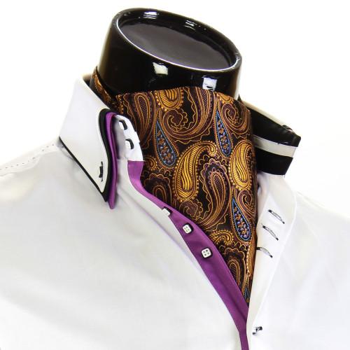 Men`s Vintage Paisley Ascot Cravat CH 9070-2