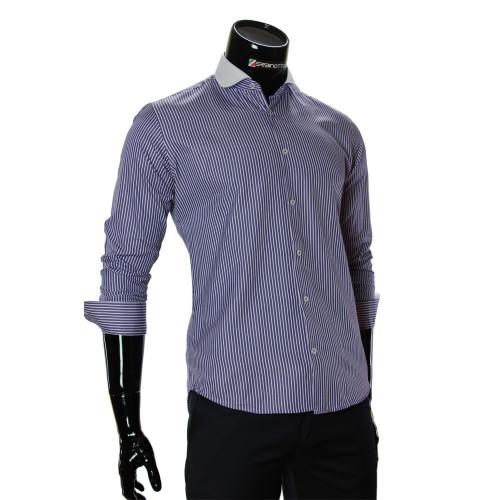 Чоловіча приталена сорочка у смужку CAV 676-3