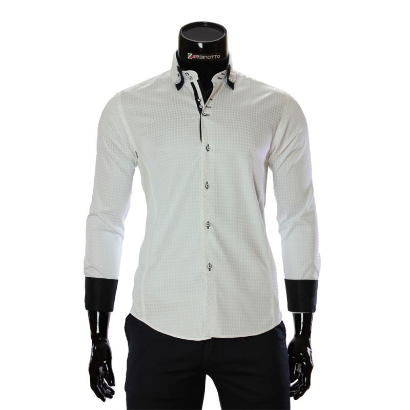 Мужская приталенная рубашка в клетку BEL 1990-2