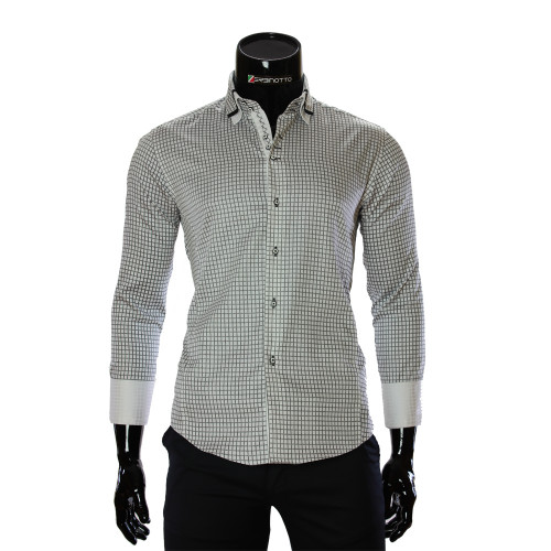 Men`s Slim Fit Cotton Checkered Shirt BEL 1990-3