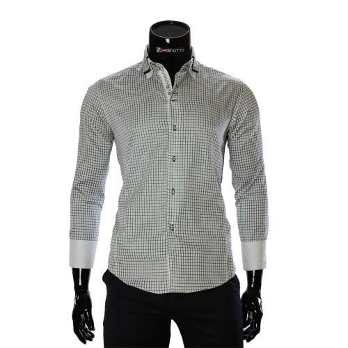 Мужская приталенная рубашка в клетку BEL 1990-3