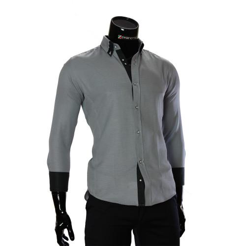 Чоловіча однотонна приталена сорочка MM 1959-4