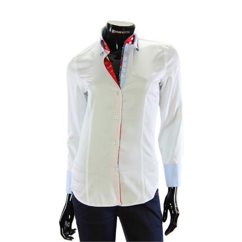 Женская однотонная приталенная рубашка TNL 1033-4