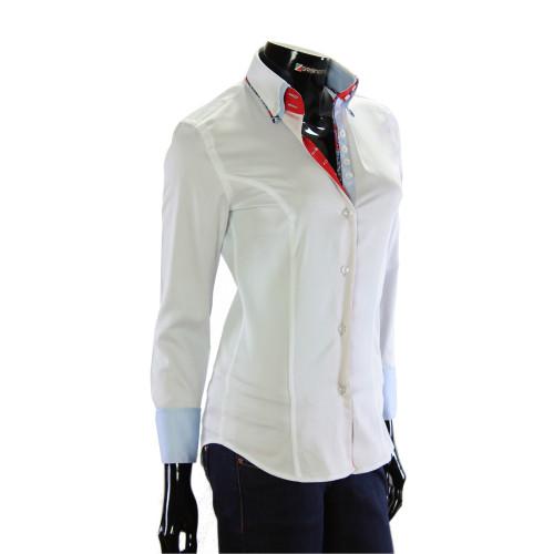 Жіноча однотонна приталена сорочка TNL 1033-4