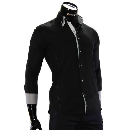 Чоловіча однотонна приталена сорочка MM 1960-6