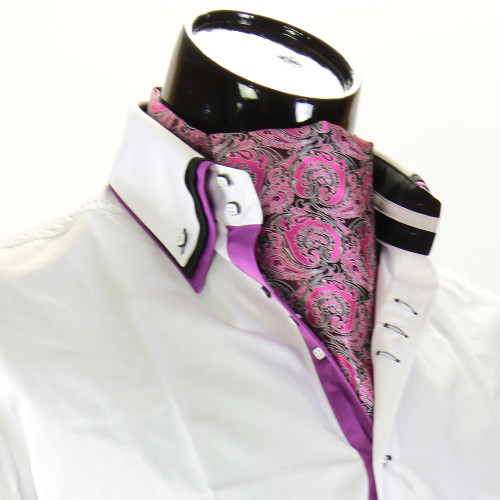 Men`s Floral Paisley Ascot Cravat CH 9070-10