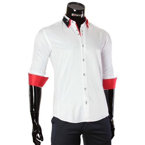 Мужская однотонная приталенная рубашка MM 1960-8