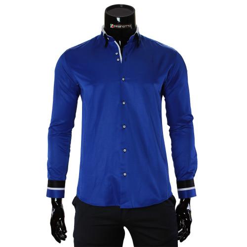 Мужская однотонная приталенная рубашка MM 1960-9