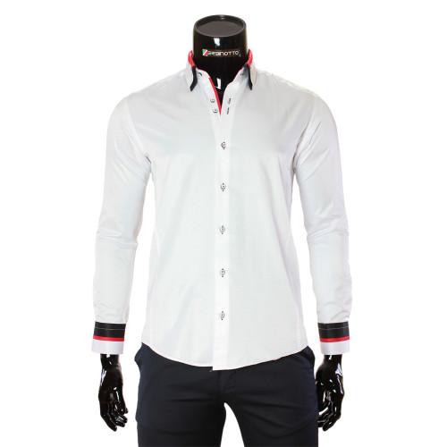 Чоловіча однотонна приталена сорочка MM 1960-11
