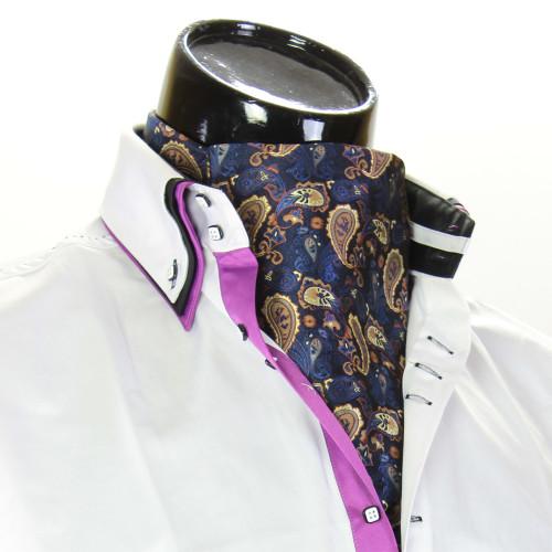 Men`s Floral Paisley Ascot Cravat CH 9080-2