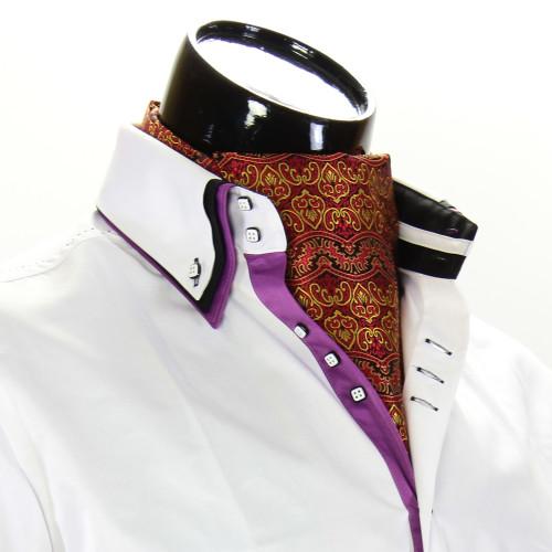 Men`s Pattern Paisley Ascot Cravat CH 9020-4