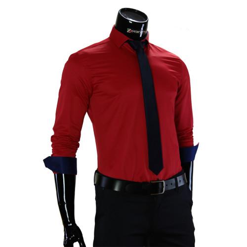 Мужская однотонная рубашка GF 7037-1