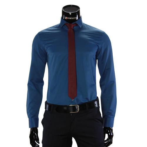 Мужская однотонная рубашка GF 7037-2
