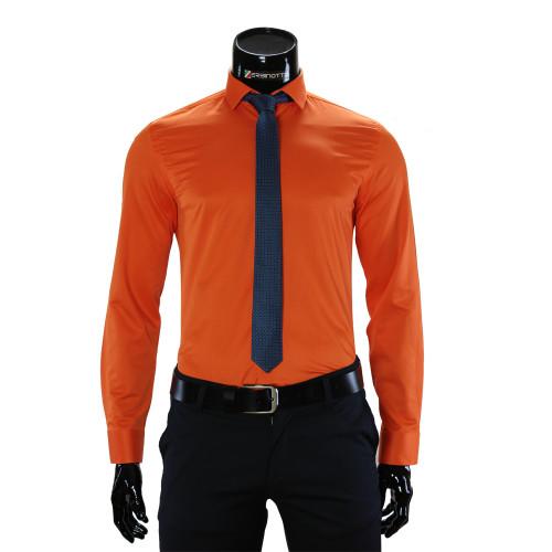 Мужская однотонная рубашка GF 7037-4