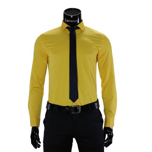 Мужская однотонная рубашка GF 7037-6