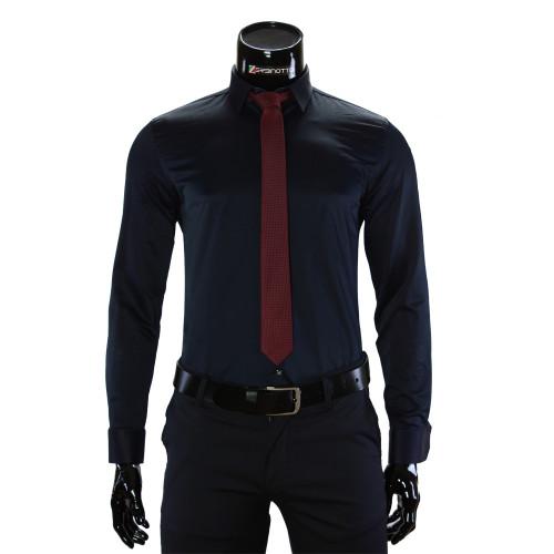 Мужская однотонная рубашка GF 7037-7