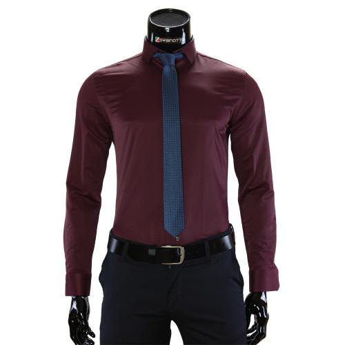 Мужская однотонная рубашка GF 7037-8