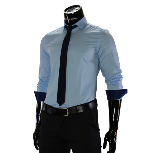Мужская однотонная рубашка GF 7037-9