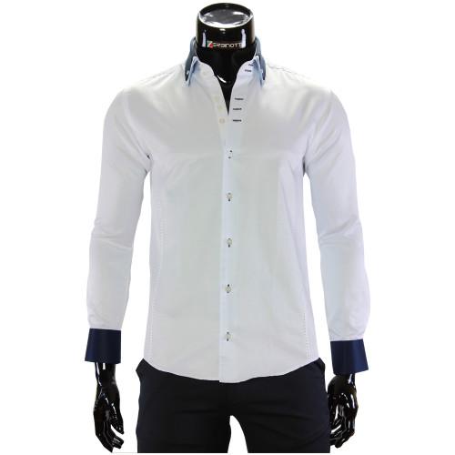 Чоловіча однотонна приталена сорочка MM 1960-13