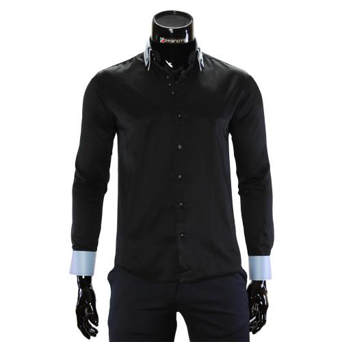 Чоловіча однотонна приталена сорочка MM 1960-14