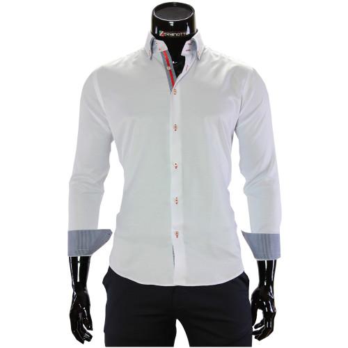 Мужская однотонная рубашка DC 2006-1