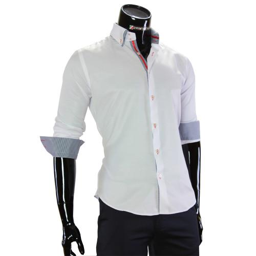 Чоловіча однотонна сорочка DC 2006-1
