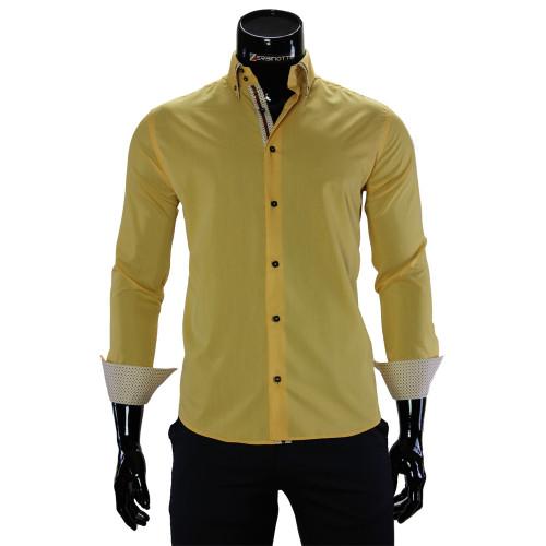 Мужская однотонная рубашка DC 2006-2