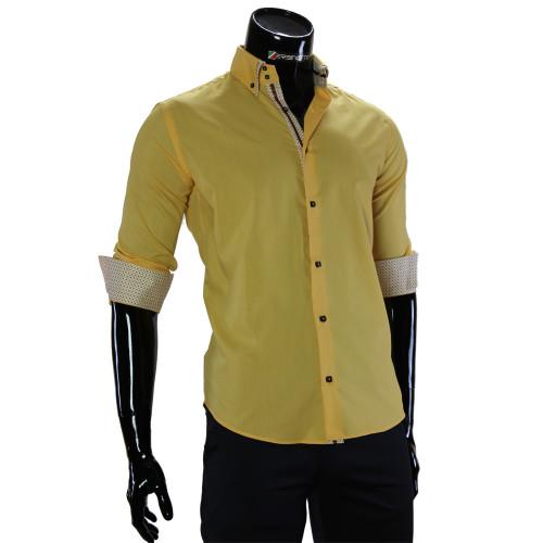 Чоловіча однотонна сорочка DC 2006-2