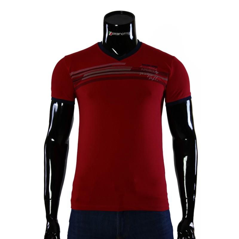 Чоловіча червона футболка ARM 1143-1. Купити футболку недорого. bd0605de0521f