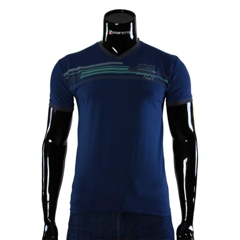 Чоловіча синя футболка ARM 1143-5. Купити футболку недорого. 350f36bd4ed8b