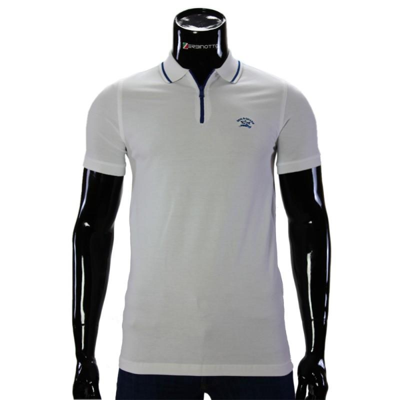 b45defc13a7d Мужская белая футболка поло D 240-2. Купить рубашку поло в Украине.