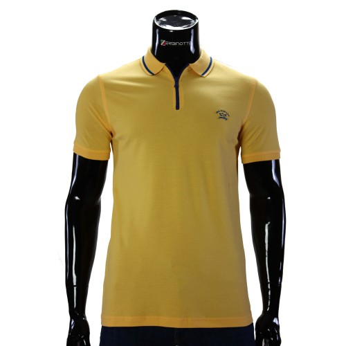 Cotton Yellow T-shirt Polo Paul&Shark D 240-5