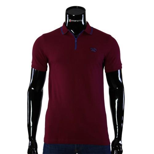 Cotton Burgundy T-shirt Polo Paul&Shark D 240-6