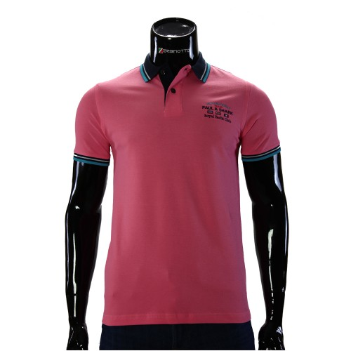 Cotton Pink T-shirt Polo Paul&Shark D 243-2