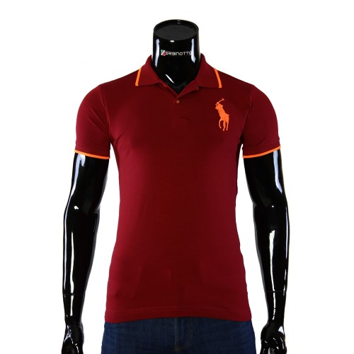 Stretch Red T-shirt Polo Ralph Lauren D 2008-2
