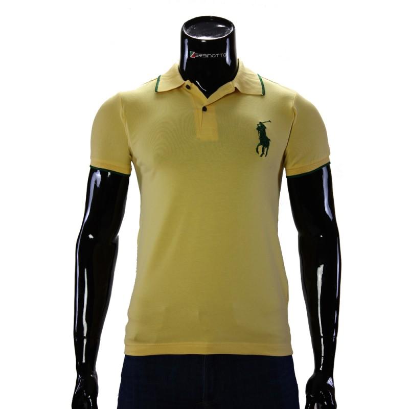 df4965c12 Men s yellow polo shirt D 2008-6. Buy Ralph Lauren polo T-shirt.