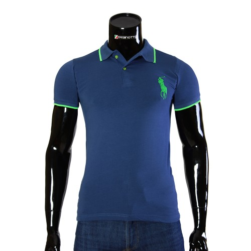 Stretch Blue T-shirt Polo Ralph Lauren D 2008-7