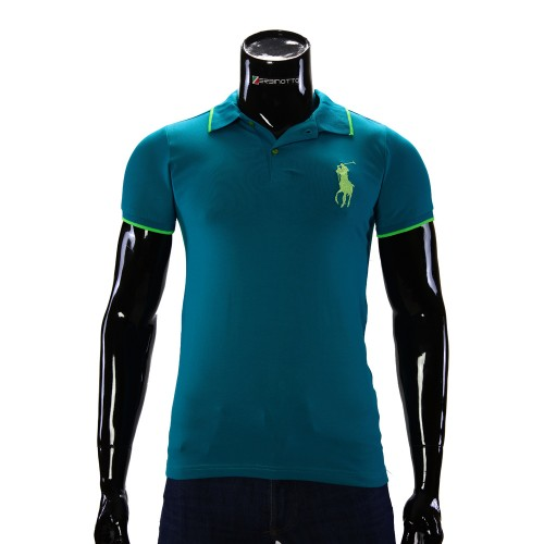 Stretch Turquoise T-shirt Polo Ralph Lauren D 2008-8