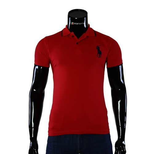 Stretch Red T-shirt Polo Ralph Lauren D 2008-9