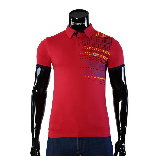 Cotton Red T-shirt Polo Lacoste 0104-6-2