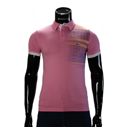 Cotton Pink T-shirt Polo Lacoste 0104-6-5