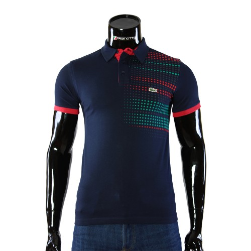 Cotton Navy T-shirt Polo Lacoste 0104-6-6