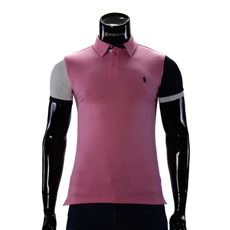 bdc07872 Men's Pink Polo Shirt 0104-9-2. Buy Ralph Lauren polo T-shirt.