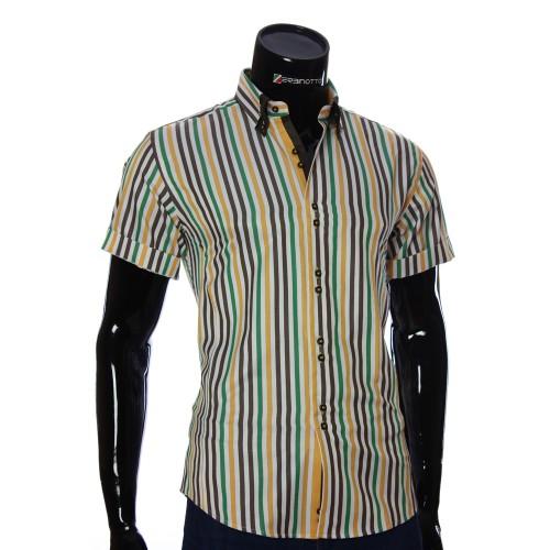 Мужская рубашка в полоску с коротки рукавом BEL 0881-6