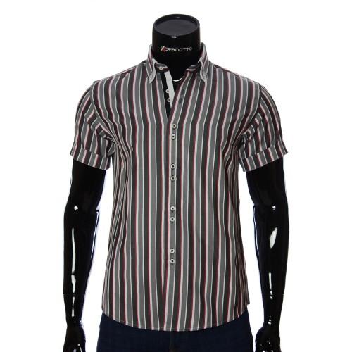 Мужская рубашка в полоску с коротки рукавом BEL 0881-10