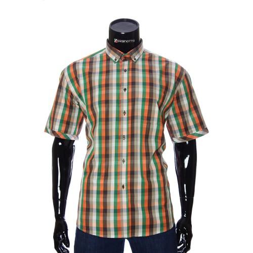 Мужская рубашка в клетку с коротки рукавом BEL 914-10