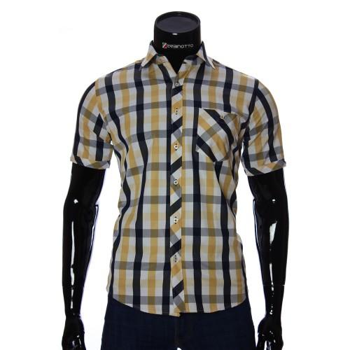 Мужская рубашка в клетку с коротким рукавом BEL 918-2