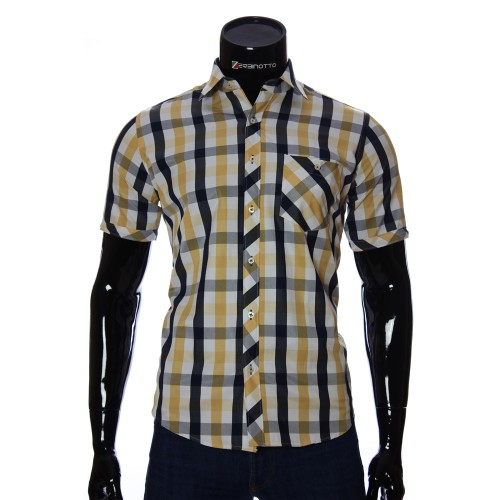 Men's plaid shirt Short Sleeve BEL 918-20
