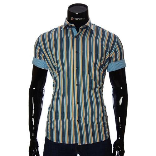 Мужская рубашка в полоску с коротки рукавом BEL 921-2